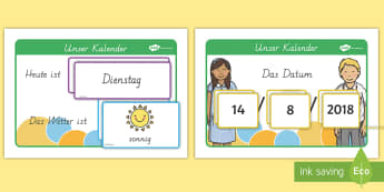 Datum und Wetter Kalender Set - Daily Weather Calendar Weather Chart - daily weather calender, weather chart, short date calender, s