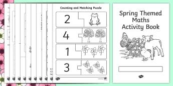 Spring Themed Maths Activity Book - spring, maths, activity, book