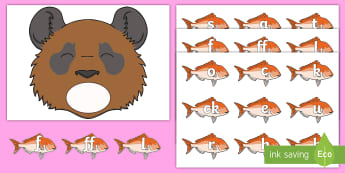 Feed the Bear Phase 2 Phonics Game - Letters and Sounds, Literacy, Letter Sounds, Phonemes, Reading, Bears, bear hunt, phase two