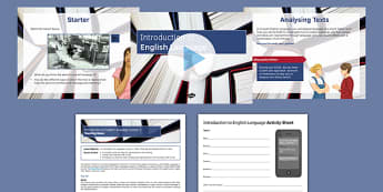 Introduction to English Language Lesson 1 Lesson Pack