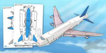 Transport Paper Model Plane - transport, paper, model, plane