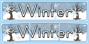 Seasons Banners Winter - season, weather, winter, banner, display