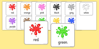 Colour Flash Cards - colour, flash cards, visual aids, cards