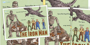 The Iron Man Large Display Poster - iron man, story book, display