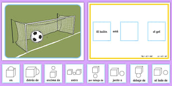 Preposition Football Spanish Game