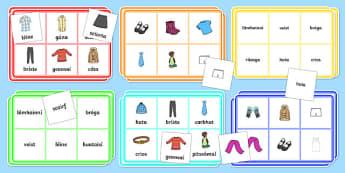 Clothes Bingo Gaeilge - bingo, gaeilge, irish, subjects, activity, eadai