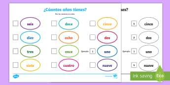 Order the Numbers Worksheet / Activity Sheet - Spanish  - numeracy, spellings, maths, worksheet, activity