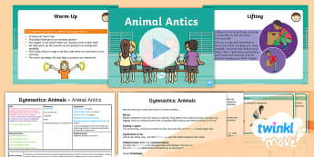 Twinkl Move - Y1 Gymnastics: Animals Lesson 1 - Animal Antics - KS1, Key Stage 1, Year 1, Y1, PE, Physical Education, Sport, Exercise, gymnastics, Animals, Move, Ju