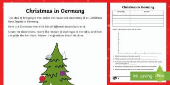 KS1 Christmas in Germany Differentiated Activity Sheets - Christmas, Nativity, Jesus, xmas, Xmas, Father Christmas, Santa, St Nic, Saint Nicholas, traditions,