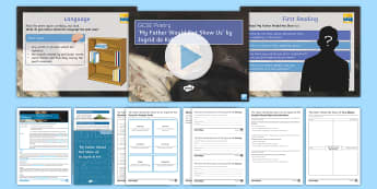 Introductory GCSE Poetry Lesson Pack to Support Teaching on 'My Father Would Not Show Us' by Ingrid de Kok - GCSE Poetry, Edexcel poetry anthology, relationships cluster, poetry comparison, poetry analysis, po