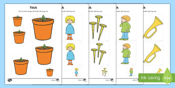 Size Ordering to Support Teaching on Titch - titch, story book, story, size ordering, size, order, activity, sizes