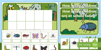 Minibeast Editable Self-Registration Ten-Frame Resource Pack -  Minibeast, bugs, Butterflies, Caterpillar, spiders, Ten Frame, Maths Mastery, Counting, Number, Cal