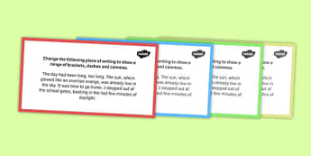 Dashes and Brackets Challenge Card - dashes, brackets, challenge cards