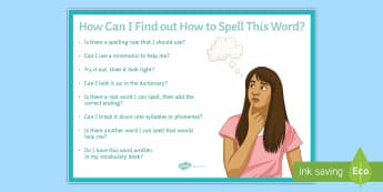 Spelling Strategies Large Display Poster - spelling, strategies, poster