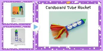 Cardboard Tube Rocket Craft Instructions PowerPoint - space