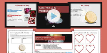 Carol Ann Duffy Valentine Pack - Carol Ann Duffy, Valentine, Onion, Analysis, Poetry, Imagery, Tone, Language