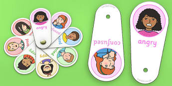 emotions, fans, flashcards,  feelings, special needs, labels