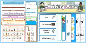 EYFS Writing Area Classroom Set Up Pack - eyfs, writing area