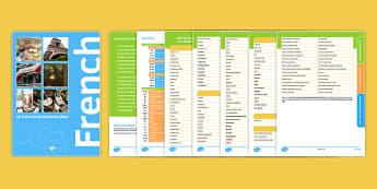 My French GCSE Vocabulary Book - french, GCSE, French, Français, Vocabulary, Vocabulaire, Booklet