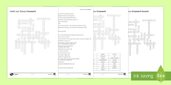Health and Disease Crossword - Crossword, health, disease, drug, drugs, microbes, microorganisms, virus, bacteria, fungi, alcohol,