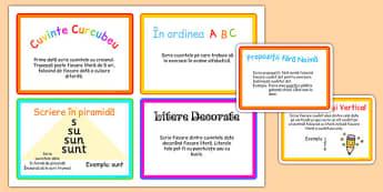 Provocări pentru exersarea scrierii - Cartonașe - provocări, scriere, cartonașe, creativ, exersare, clasa I, materiale didactice, română, romana, material, material