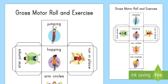 Gross Motor Roll and Exercise Activity - healthy eating, healthy habits, healthy living, exercising, gross motor activity, healthy living act