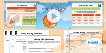 PlanIt Y4 Explorers: James and the Giant Peach Lesson Pack Personal Writing 3 - Explorers: James and the Giant Peach, planit, ks2, y4, year 4, english, literacy, roald dahl, diary