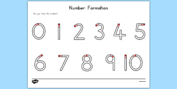Number Formation Activity Sheet - usa, america, number formation, worksheet, overwriting