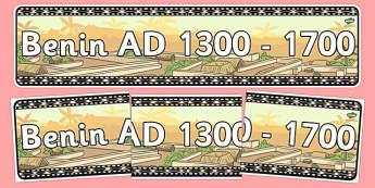 AD 1300-1700 Display Banner - ad 1300, ad 1700, display banner, display, banner, history