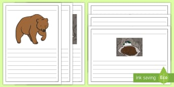 Bears Writing Frames Pack - Animals, Polar Bear, Panda, Brown Bear, Bear cubs, Literacy, English, Writing Prompt, bear hunt