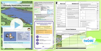 PlanIt Y1 Language Conventions: Correctly Demarcating Sentences Lesson Pack - ACELY1672, Punctuation, Grammar, activity sheets, lesson plan, PowerPoint, display posters, poster,