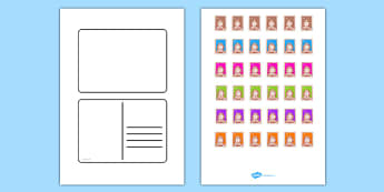 Blank Postcard Templates - Postcard Writing Template