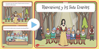 Blancanieves y los Siete Enanitos Story PowerPoint Spanish - spanish, snow white, dwarves, story, powerpoint