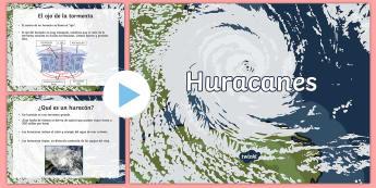 Presentación: Los huracanes - huracanes, huracán, tormenta, tormenta tropical, huracán irma, español