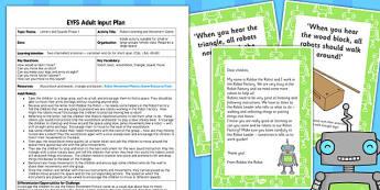 Robot Listening Movement Game EYFS Adult Input Plan Resource Pack
