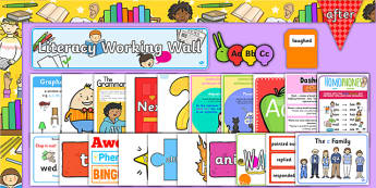 KS1 Literacy Working Wall Display Pack
