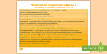 Mathematical Development Outcome 6 Editable Notes - mathematical development, outcome 6, moderation, I can, skills ladders, wales,
