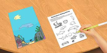 Sea Creature Sorting Activity - sea, creature, sorting, activity