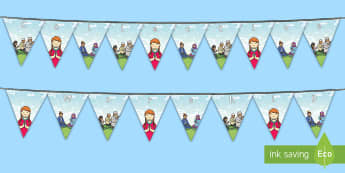 Collective Worship Display Bunting - Hanging, Assembly, religion,