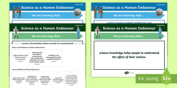 Science as a Human Endeavour Year 3 Curriculum Objective Posters - Australian Curriculum, grade 3, WALT, TIB, Australian science,Australia