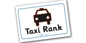 Bus Station Role Play Taxi Rank Sign - Bus role play, transport, taxi rank, taxi, sign, signs, banner, role play, buses, bus station, ticket