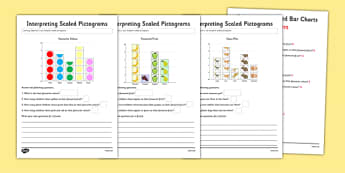 Interpreting Pictograms Worksheet / Activity Sheet Pack - interpreting, pictograms, activity, sheets, worksheet