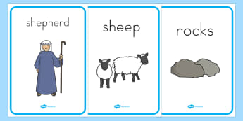 The Lost Sheep Display Posters - usa, america, the Lost Sheep, sheep, shepherd, lost sheep, display, poster, sign, banner, 100, 99, search, searching, looking for, safe, carried home, bible story, bible, party, happy