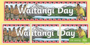 Waitangi Day Display Banner - Treaty of Waitangi, Waitangi, Tiriti o Waitangi, New Zealand, Aotearoa, History