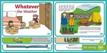 Whatever the Weather Story - Exploring my world, aistear, book, weather station, seasons, rain, wind, sun, snow, Irish