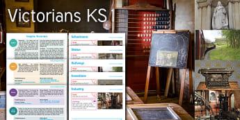 Imagine Victorians KS1 Resource Pack - School, Schoolroom, Train, Steam, Statue, Victoria, Engine, Industry, Industrial Revolution, Typewri