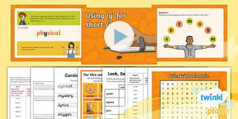 PlanIt Y5 Term 1A W3: Short /i/ spelt using y Spelling Pack