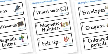 Heron Themed Editable Writing Area Resource Labels - Themed writing resource labels, literacy area labels, writing area resources, Label template, Resource Label, Name Labels, Editable Labels, Drawer Labels, KS1 Labels, Foundation Labels, Foundation
