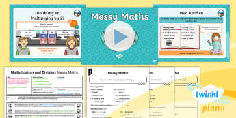 PlanIt Maths Y2 Multiplication and Division Lesson Pack Doubles and Halves - Multiplication and Division, double, half, multiplying and dividing by 2. Reasoning, representing, S