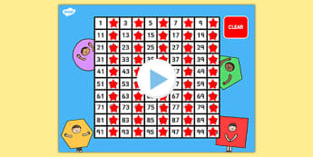 Interactive 100 Squares - 100, hundred, square, number